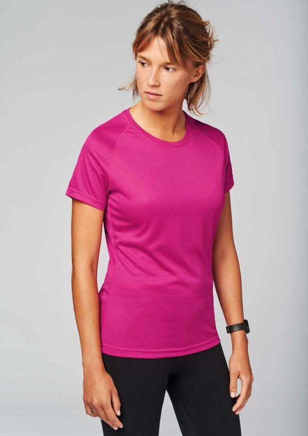 sportshirt bedrukken meisje in roze sportshirt