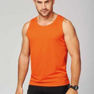 Man draagt oranje tanktop